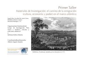 Primer Taller  Materiales de Investigación el camino de la emigración (cultura, economía y poder) en el marco atlántico_Página_1