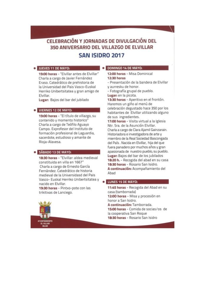 Elvillar programa 2017